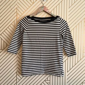 Kate Spade • women's S black and white striped top